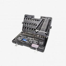 Black chrome mechanics tool set