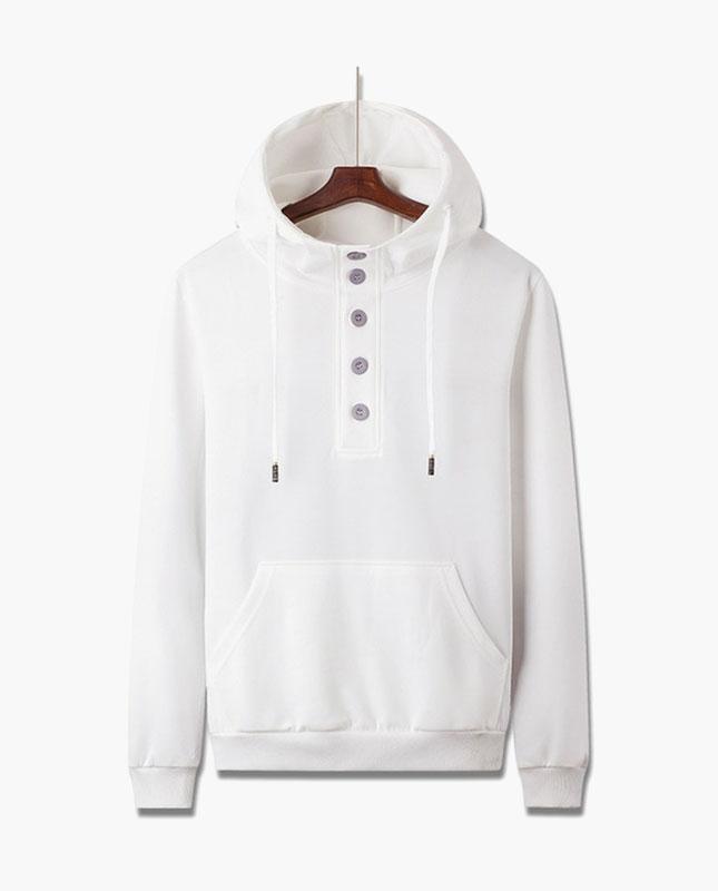 Men's full sleeve cotton color block hooded t-shirt
